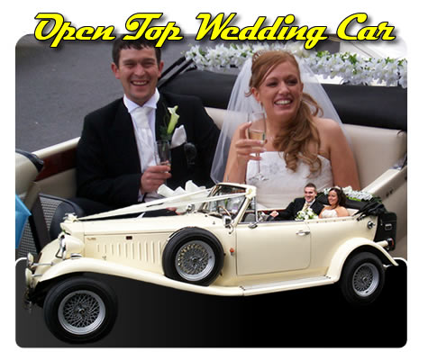 Cream Open Top Wedding Car